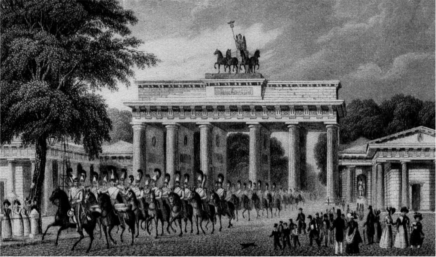 TOURISMUS<br>Was nur Du siehst:<br>Brandenburger Tor vor 200 Jahren