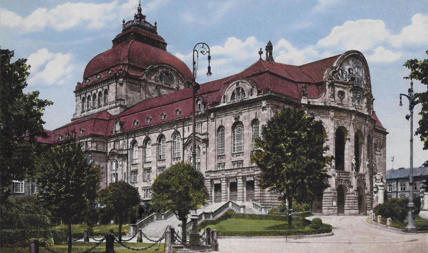 STADTBILD<br>Vor der Zerstörung<br>Stadttheater Freiburg um 1920